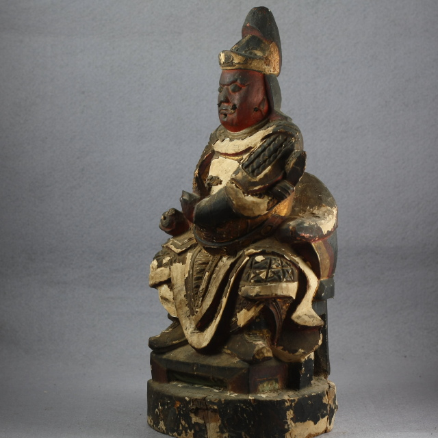 清代木雕武将造像