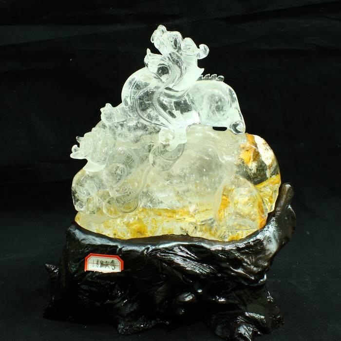 水晶貔貅擺件圖片