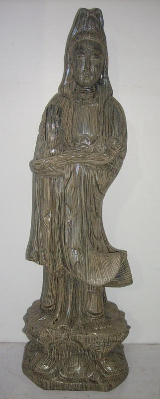 沉香木雕刻观音摆件
